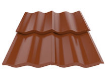 Roof tile. 3d high resolution render image of roof tile Royalty Free Stock Image