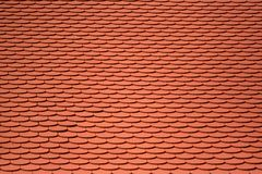 Roof-tile background. Red color tiles on a roof Royalty Free Stock Images