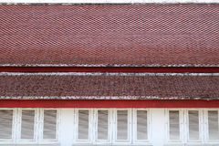 Roof tile background. Detail of roof tile background Royalty Free Stock Images