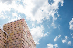 Roof tile with blue sky Royalty Free Stock Photography