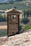 Roof tile and brick chimney Stock Image