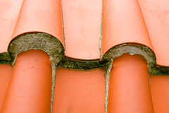 Roof tile. Detailed view of the roof tiles Royalty Free Stock Images