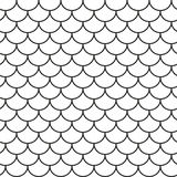 Roof tile geometric seamless pattern Stock Images