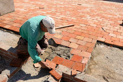 Roof tile installation royalty free stock images