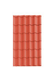 Roof tile isolated on the white Royalty Free Stock Image