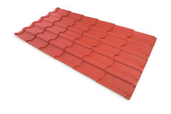 Roof tile isolated on the white Royalty Free Stock Photography