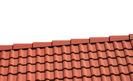Roof tile isolated on white Royalty Free Stock Image