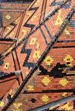 Roof tile of La Rochepot castle Stock Photo