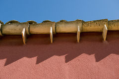 Roof Tile on a mediterranean wall. Ina sunny day Royalty Free Stock Photos