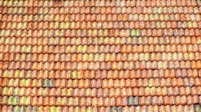 Roof tile old colour background sunlight orange stock photos