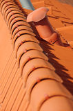 Roof tile orange Royalty Free Stock Photos