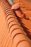 Roof tile orange Royalty Free Stock Photos