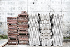 Roof tile and parquet tile Stock Photography