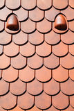 Roof tile patern orange Stock Photo