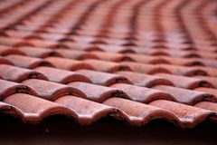 Roof Tile Pattern Royalty Free Stock Photo