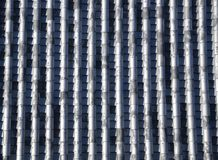 Japanese roof tile pattern. An ancient Japanese roof tile lining. Photo taken Dec 2014 Stock Image