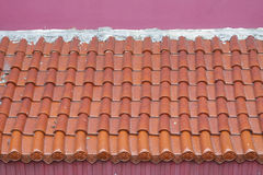 Roof tile pattern in asian style Royalty Free Stock Images