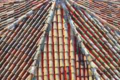 Roof tile pattern Stock Image