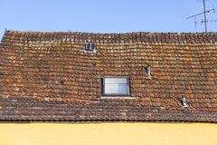 Roof tile pattern over blue sky Royalty Free Stock Photography