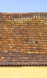 Roof tile pattern over blue sky Royalty Free Stock Photos