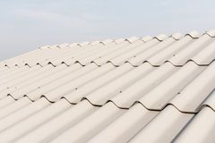 Roof tile pattern over the sky Royalty Free Stock Photos