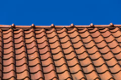 Roof tile pattern Stock Images