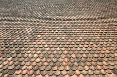 Roof Tile Pattern. Of Thailand Royalty Free Stock Photography