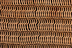 Roof tile pile. HOLAMBRA, SP, BRAZIL - MAY 14, 2016 -  Geometric composition with roof tile pile Royalty Free Stock Image