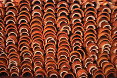 Roof tile. Set to create roof of temple Stock Photos
