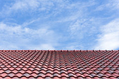 The roof tile with the sky Stock Image