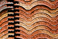 Roof tile stack Stock Images