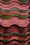 Roof tile stack in temple Stock Image