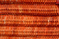 Roof tile stack of thai temple Stock Photos