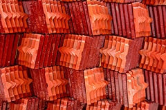 Roof tile stack of thai temple Royalty Free Stock Photography