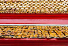 Roof tile temple ,thai style Royalty Free Stock Images