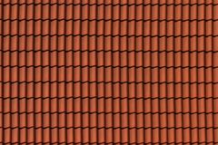 Roof tile texture. Red Roof tile texture, background Stock Photography