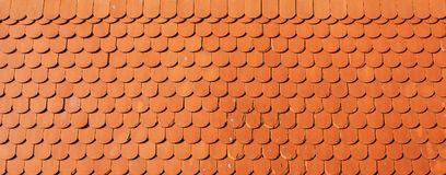 Roof tile texture. Orange retro styled tiles as background royalty free stock photo