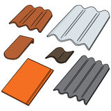 Roof tile. Vector set of roof tile Stock Photography