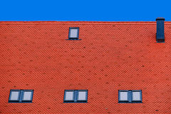 Roof tile with windows 6 Royalty Free Stock Photography