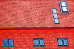 Roof tile with windows 3 Royalty Free Stock Images