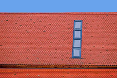 Roof tile with windows 4 Stock Photos