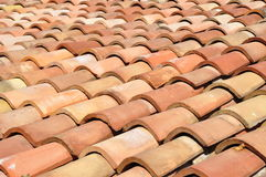 Roof tiles. Old mediterranean style roof tiles Royalty Free Stock Images