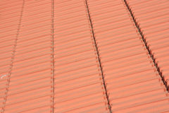 The roof tiles. The closeup of red roof tiles Stock Image