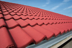 Roof tiles. Of a new building royalty free stock photos