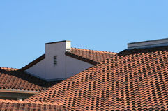 Roof Tiles. View of Spanish California roof tiles Royalty Free Stock Photos