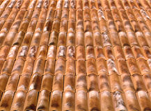 Roof tiles. Roof old house tiles illustration Royalty Free Stock Photography