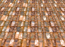 Roof tiles. Roof old house tiles illustration Stock Image