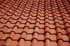 Roof tiles. Red roof tiles Royalty Free Stock Image