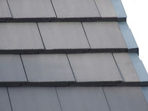 Roof Tiles. Modern fabricated roof tiles. These are an alternaltive to slates Stock Images