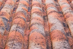 Roof tiles. Orange roof tiles seen from above Royalty Free Stock Photography
